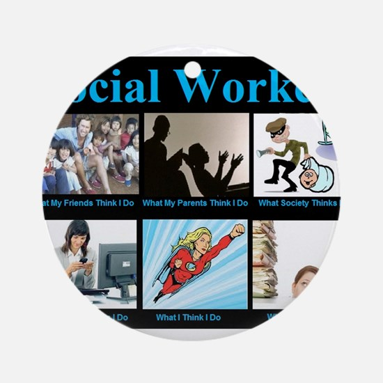 Social Worker Job Ornament (Round)