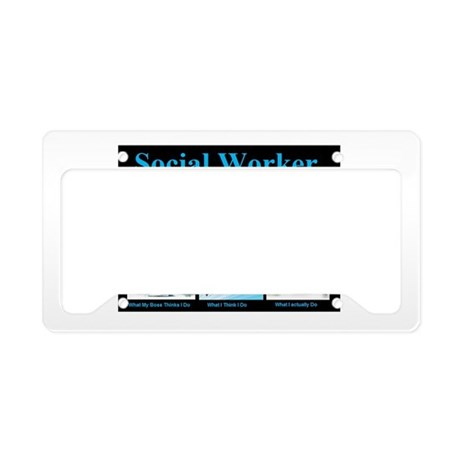 Social Worker Job License Plate Holder
