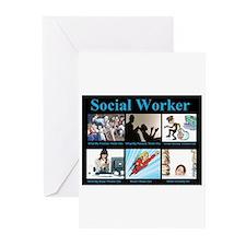 Social Worker Job Greeting Cards (Pk of 10)