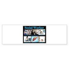 Social Worker Job Bumper Sticker