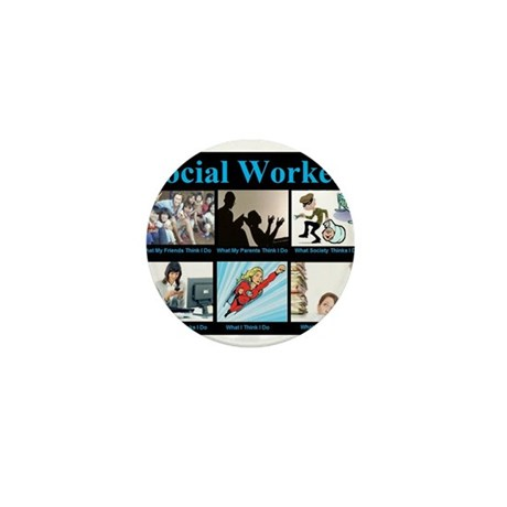 Social Worker Job Mini Button (100 pack)