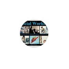 Social Worker Job Mini Button