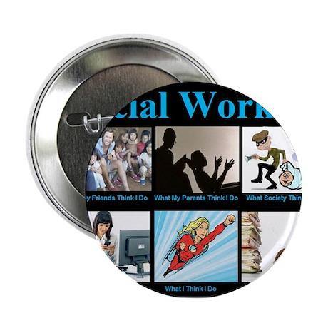 """Social Worker Job 2.25"""" Button"""