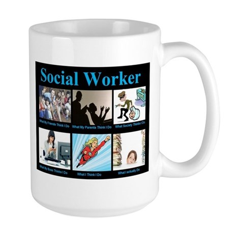 Social Worker Job Large Mug