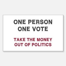 One Person One Vote Decal