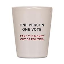 One Person One Vote Shot Glass