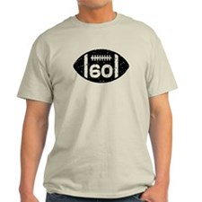 60th Birthday football T-Shirt