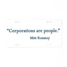 Mitt Romney Aluminum License Plate