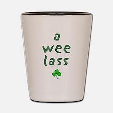 a wee lass Shot Glass