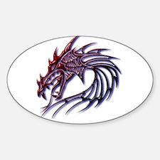 Dragons Head Sticker (Oval)