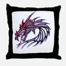 Dragons Head Throw Pillow