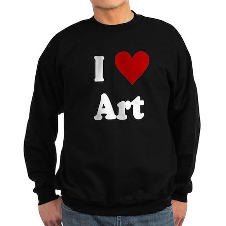 I Love Art Sweatshirt (dark)