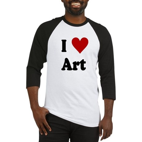 I Love Art Baseball Jersey