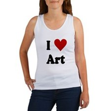 I Love Art Women's Tank Top
