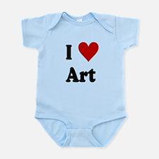 I Love Art Infant Bodysuit
