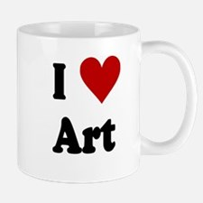 I Love Art Small Small Mug