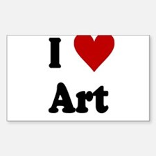 I Love Art Decal