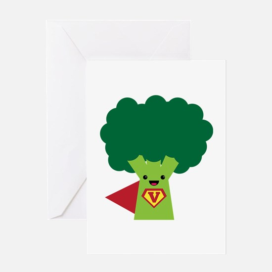 Super Broccoli Greeting Card
