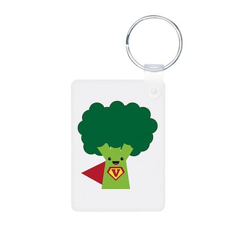 Super Broccoli Aluminum Photo Keychain