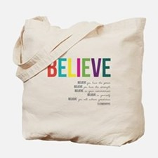 BELIEVE Tote Bag
