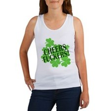 Cheers Fuckers Funny St Pats Women's Tank Top