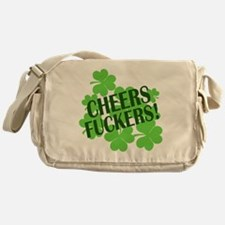 Cheers Fuckers Funny St Pats Messenger Bag