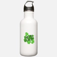 Cheers Fuckers Funny St Pats Water Bottle