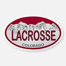 Lacrosse Colo Plate Sticker (Oval)