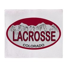 Lacrosse Colo Plate Throw Blanket