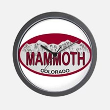 Mammoth Colo Plate Wall Clock