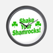 Shake Your Shamrocks Wall Clock