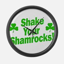 Shake Your Shamrocks Large Wall Clock