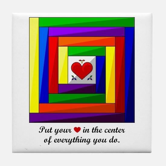 Quilt Square Tile Coaster