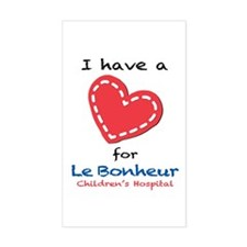 I Have a Heart for Le Bonheur - Decal
