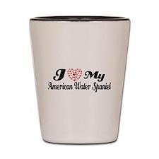 I love my American Water Spaniel Shot Glass