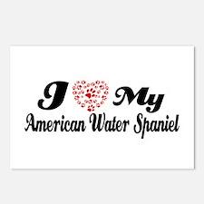 I love my American Water Spaniel Postcards (Packag