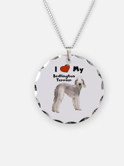 I Love My Bedlington Terrier Necklace