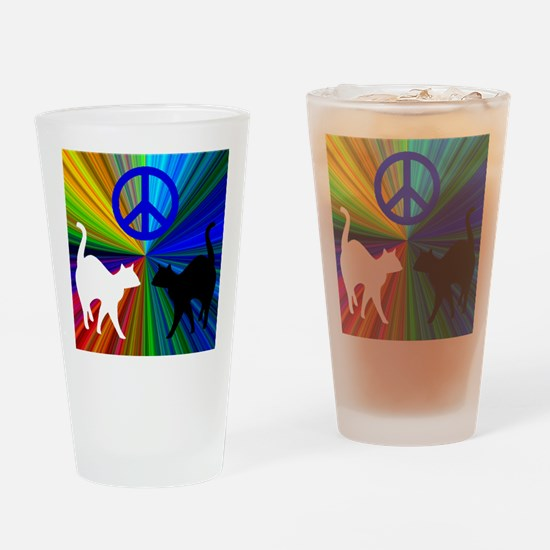 PEACE CATS Drinking Glass