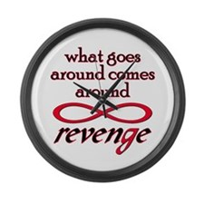 Cute Revenge series Large Wall Clock