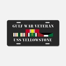 USS Yellowstone Gulf War Veteran Aluminum License