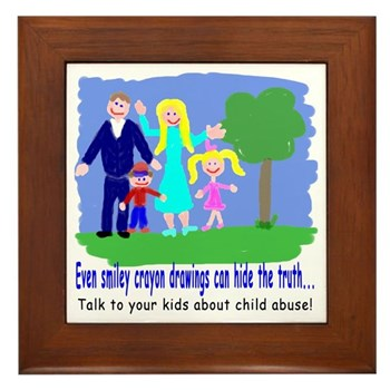 Abuse Awareness Framed Tile
