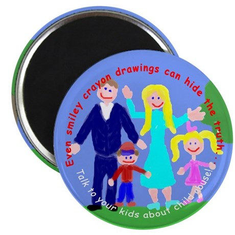 "Abuse Awareness 2.25"" Magnet (100 pack)"
