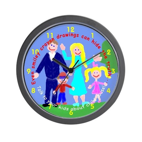 Abuse Awareness Wall Clock