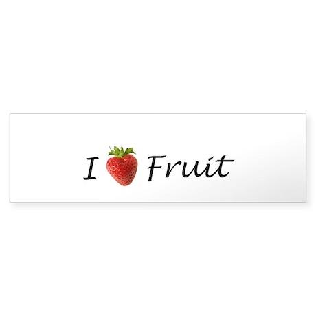 I Heart Fruit Sticker (Bumper)