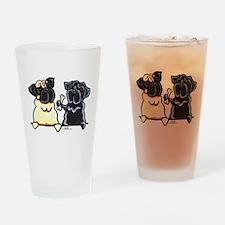 Bone to Pug Drinking Glass