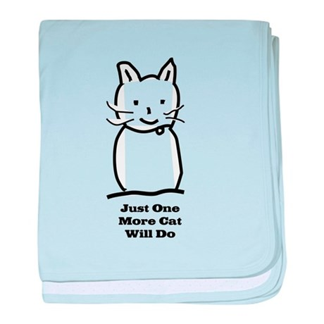 Just One More Cat baby blanket