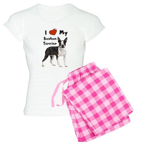 I Love My Boston Terrier Women's Light Pajamas