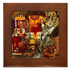 Diego Rivera Prehistoric Art Framed Tile