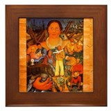 Diego rivera tiles Framed Tiles