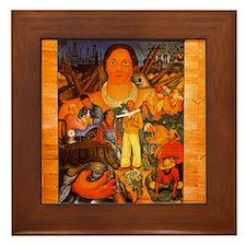 Diego Rivera California Art Framed Tile